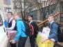 Коллектив школы №1, учащиеся и их родители собрали подарки к Новому Году для детей инвалидов и многодетных семей